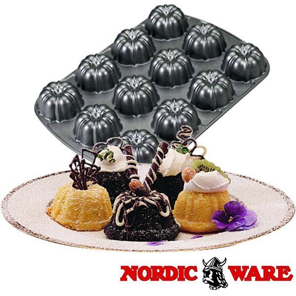 ノルディックウエア オシャレなケーキ型 ブラウニーパン Nordic Ware|daily-3|02