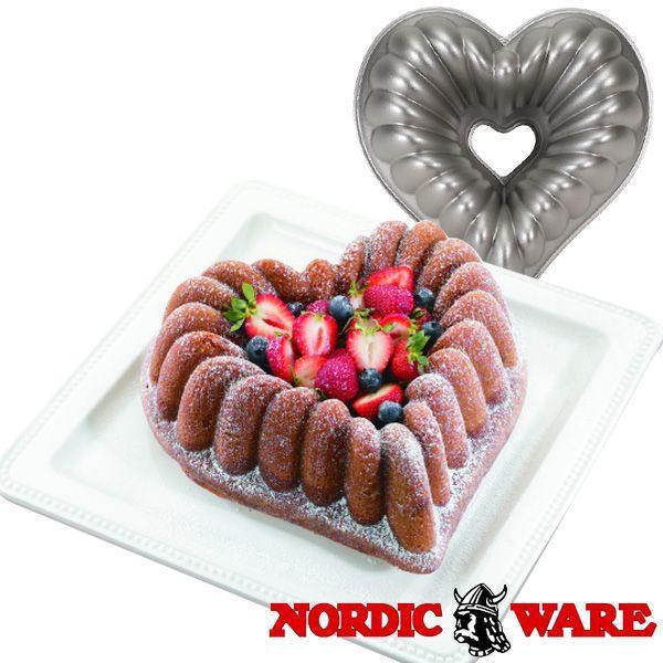 ノルディックウエア オシャレなケーキ型 エレガントハートパン Nordic Ware daily-3 02