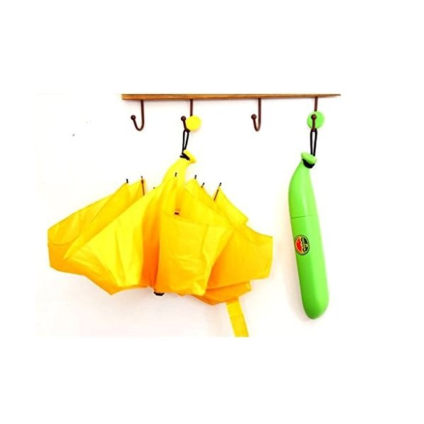 Hivelポータブルコンパクトバナナ型折りたたみ太陽と雨傘ノベルティアウトドアファッションギフト イエロー
