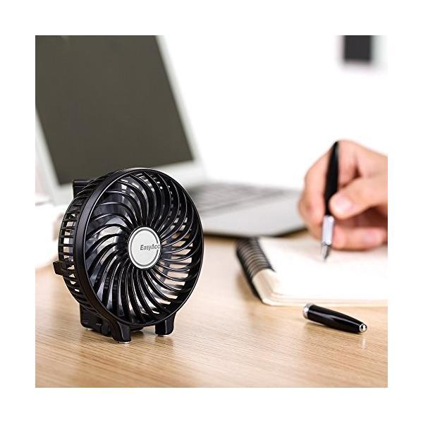EasyAcc 携帯扇風機 USBミニ扇風機 LG 2600ma バッテリー電池付き 小型 手持ち 折り畳み式 卓上置き両用 熱中症対策|daim-store|05