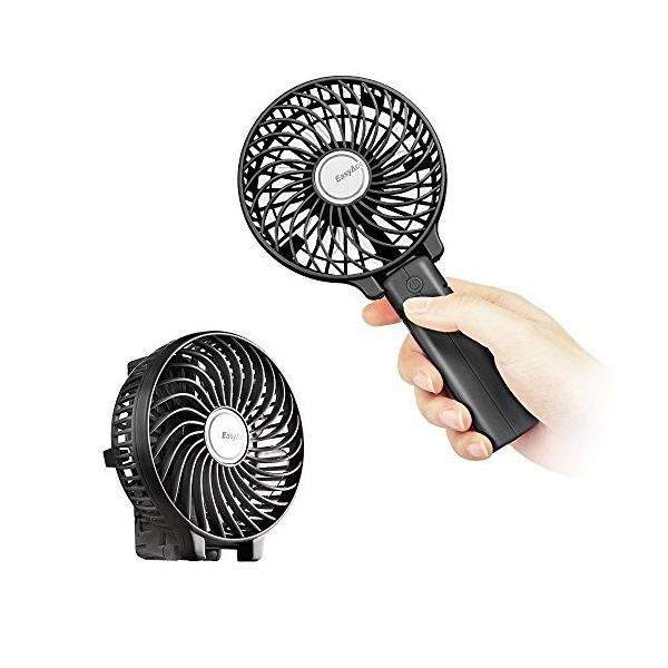 EasyAcc 携帯扇風機 USBミニ扇風機 LG 2600ma バッテリー電池付き 小型 手持ち 折り畳み式 卓上置き両用 熱中症対策|daim-store|07