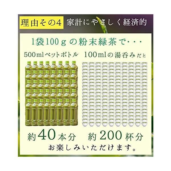 M 5袋セット オーガニック 国産 有機 粉末緑茶 100g×5袋 JAS認定 煎茶100% /セ/|daim-store|07