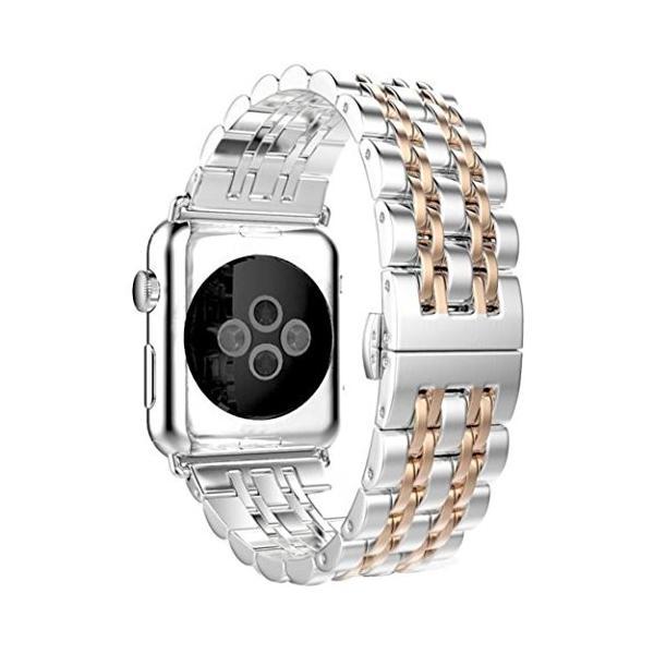 AloneAステンレススチール時計バンドストラップMetal Clasp for Apple Watchシリーズ1*/ 2*42*mm