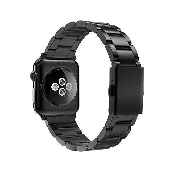 【Simpeak】 Apple Watch バンド42mm, 改良版アップルウォッチベルト ステンレスクラスプ設計 全機種対応 Apple