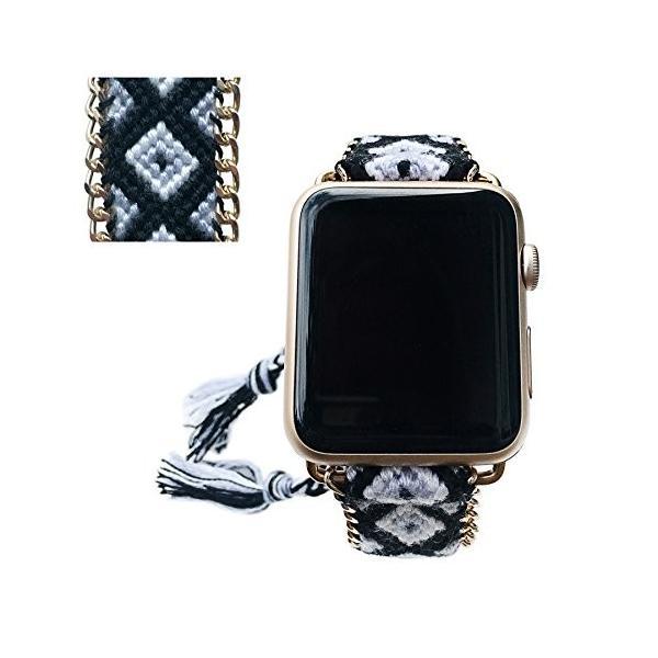 Apple Watchバンド42*mm、ファッション手作り友情ブレスレット交換iWatchストラップレディースガールズfor Apple