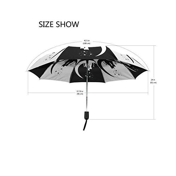マキク(MAKIKU) 折り畳み傘 猫 猫柄 恋愛 ブラック ホワイト 軽量 ワンタッチ自動開閉 晴雨兼用 頑丈な8本骨 耐強風 撥水 3段式