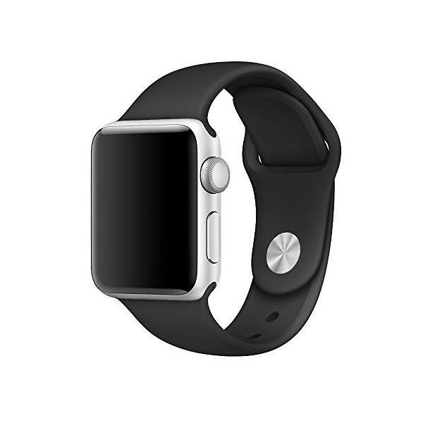 Apple Watchバンドシリコン 42mm, M/L ブラック NHA99