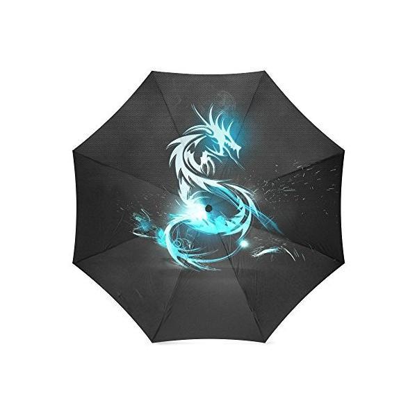 beautytoolカスタマイズされたドラゴンデジタルアート折りたたみ式太陽雨トラベル傘