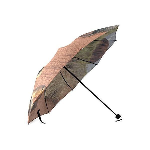 カスタムRattlesnakeコンパクト旅行防風防雨折りたたみ式傘