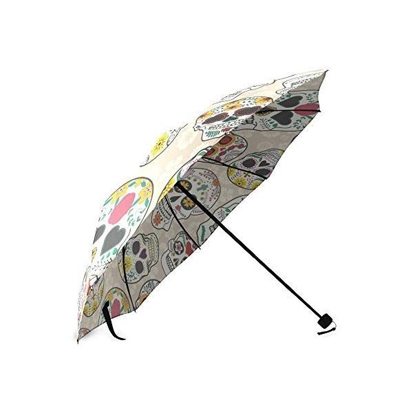 カスタムシュガースカルコンパクト旅行防風防雨折りたたみ式傘