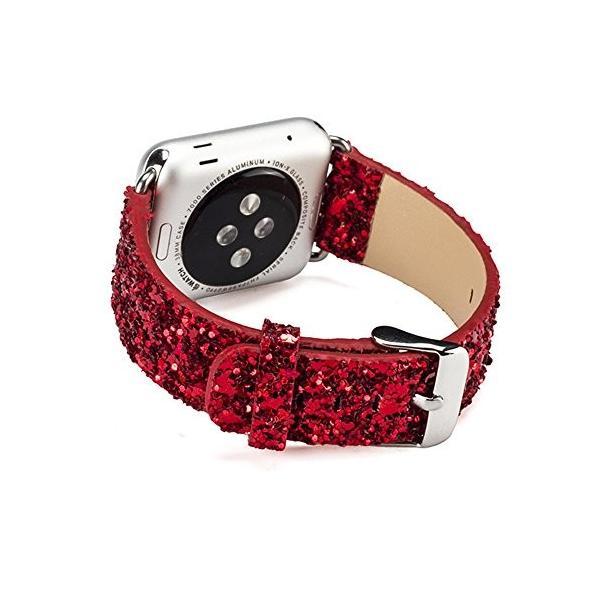 Apple Watchバンド、dahaseクリスマスキラキラ交換バンド花PUレザーリストバンドストラップfor Apple Watch