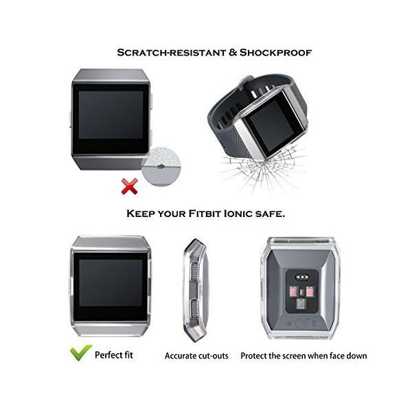 Fitbit Ionic Case、bayite Tpu IonicアクセサリーRugged保護フレーム耐衝撃性カバープロテクターシェルfor