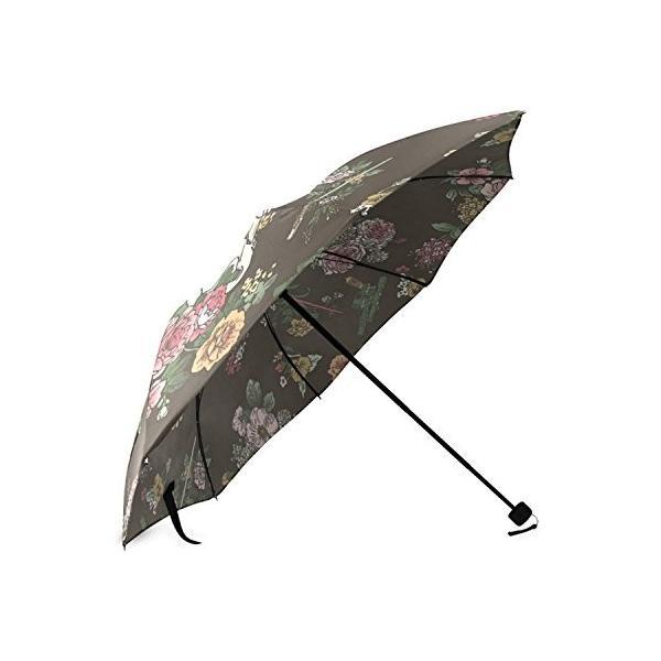 kitchor custoimzed Botanic Warsポリエステルポンジー折りたたみ式傘