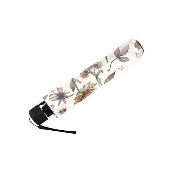 kitchor custoimzed Botanical Studyポリエステルポンジー折りたたみ式傘