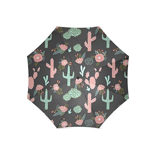 kitchor custoimzed Cactus Floralsポリエステルポンジー折りたたみ式傘