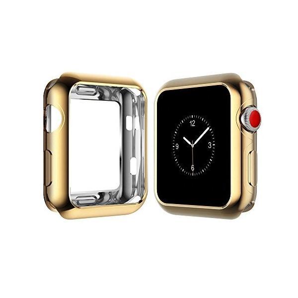 Apple WatchクロムTpuケースW / Built inコーナーエッジ保護シリーズ1*, 2*& 3*Cellular LTE /