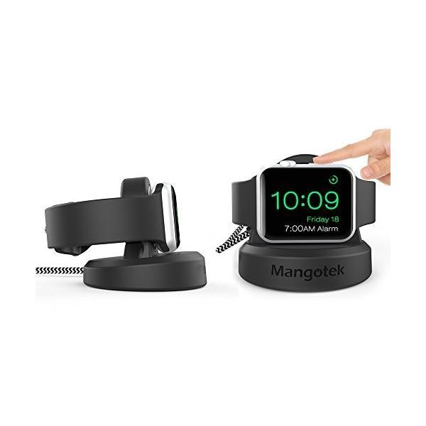 Apple Watch/アップルウォッチ 充電器 アップルウォッチ ワイヤレス磁気充電ケーブル 充電スタンド付き シリコン製 TPU充電スタンド