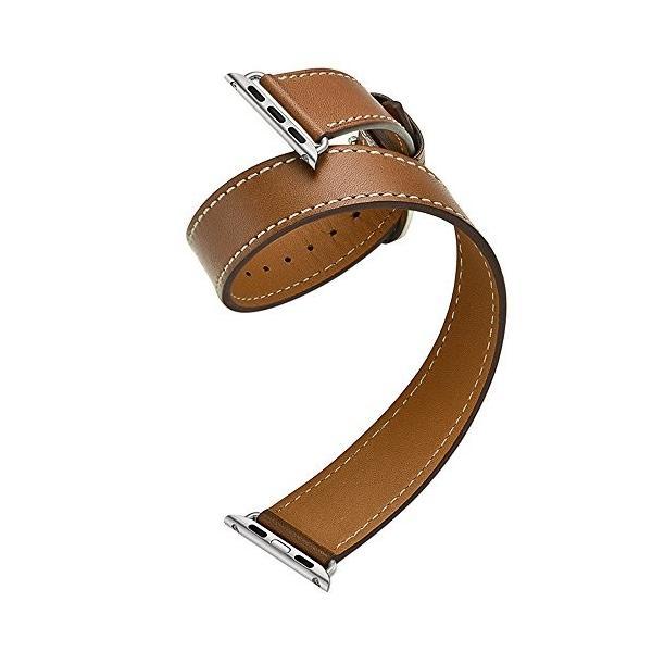 Apple Watch バンド 38mm 42mm ベルト 二重巻き型 本革 アップルウォッチ バンド Icrystal for Apple