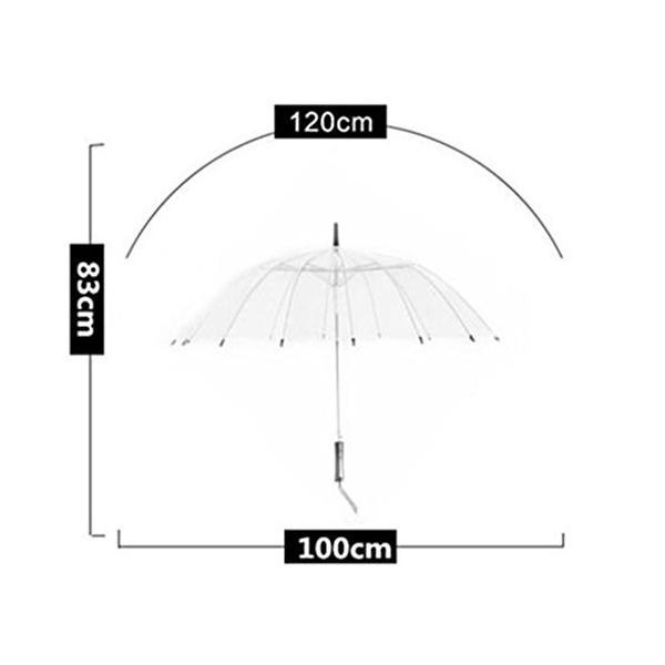 長いハンドルストレートカーブハンドルビジネス傘男性と女性の透明な傘 (色 : # 2)
