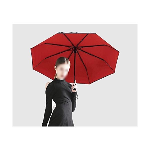 GRJH* 傘完全自動折りたたみ折り畳み傘ダブルレイヤー男性と女性のサニー傘強化鉄筋ビジネスの傘 ポータブルかつ軽量