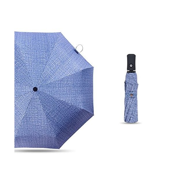自動開閉折り畳み傘 丈夫 ワンタッチ 三段折りたたみ傘 大きい グラスファイバー 雨傘 男性 日傘 紳士用 メンズ 耐強風 晴雨兼用傘 軽量 8本骨 daim-store