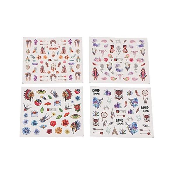 CUTICATE ネイルステッカー ネイルアート 簡単 可愛い 2タイプ選べる 12枚セット - #1|daim-store|06