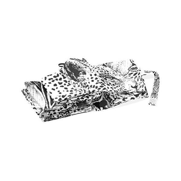 折りたたみ傘 自動開閉 レディース ヒョウ 花柄 黒 軽量 携帯 日傘 ワンタッチ UVカット 頑丈な8本骨 耐強風 グラスファイバー 収納ケース付|daim-store|03
