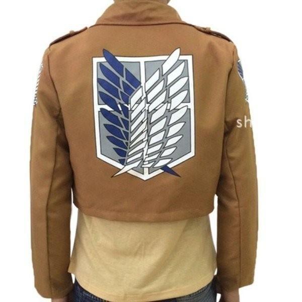 進撃の巨人 調査兵団 リヴァイ兵長 ジャケット コート 紋章 コスプレ衣装|M