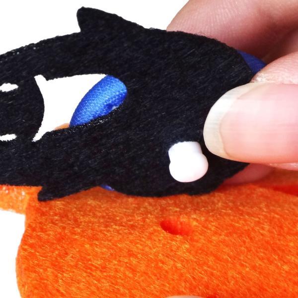 工作・手芸キット くるみボタンで作るハロウィンチャームキット 『あそぼーたん かぼちゃ』  【ネコポス便可能】|daiomfg|05