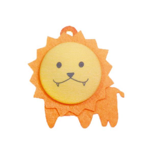 手芸キット くるみボタンで作るどうぶつチャームキット 『みみぼーたん』 らいおんさん 【ネコポス便可能】