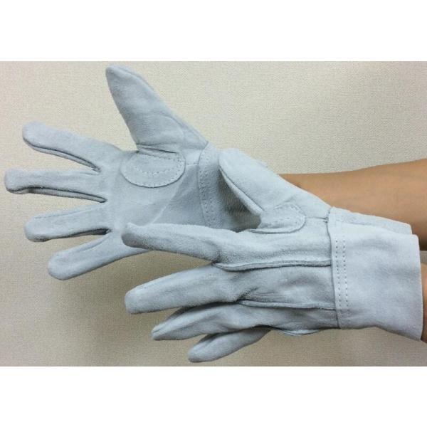 作業革手袋 皮手袋 牛床革手袋 背縫い 101 12双組