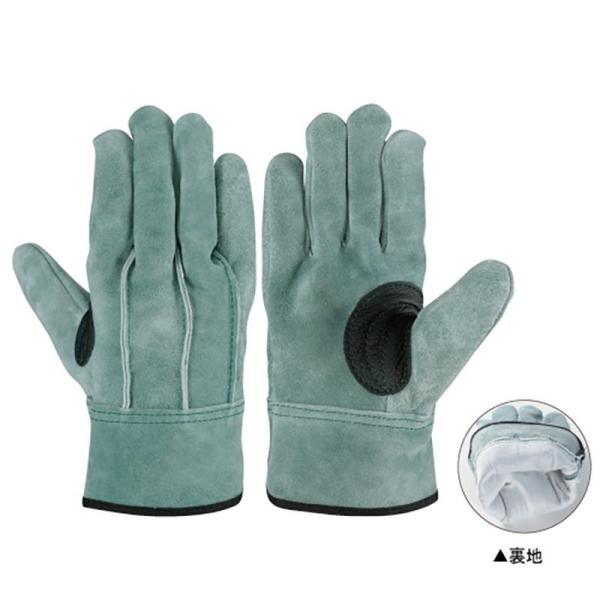 作業手袋  シモン 牛床革手袋 背縫い OIL-109 オイル裏地付 皮手袋