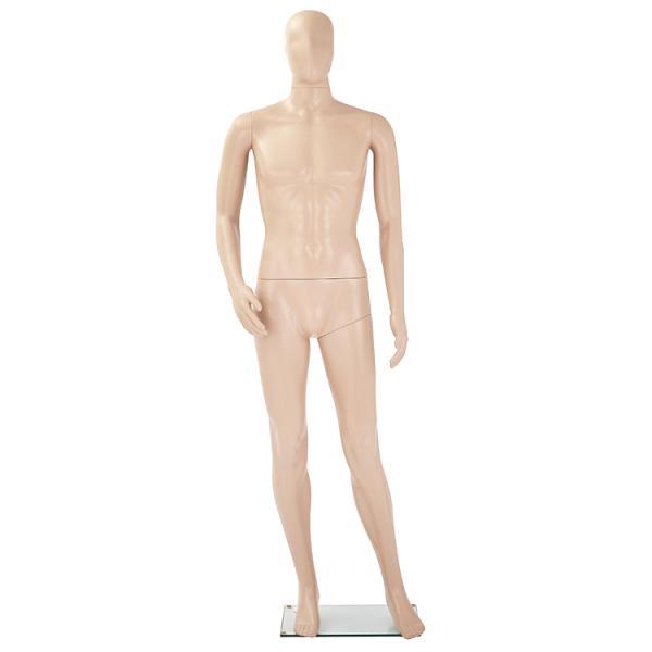 男性用マネキンGM-1S 肌色マネキン メンズ 等身大185cm 全身マネキン紳士用 プラスチックボディ MK-3960Y