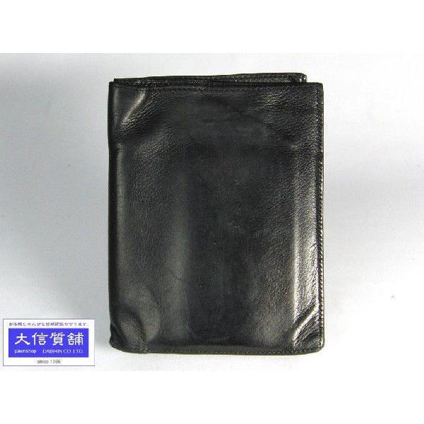 HERMESエルメス三つ折コンパクト財布J刻印ブラック中古CA-4325