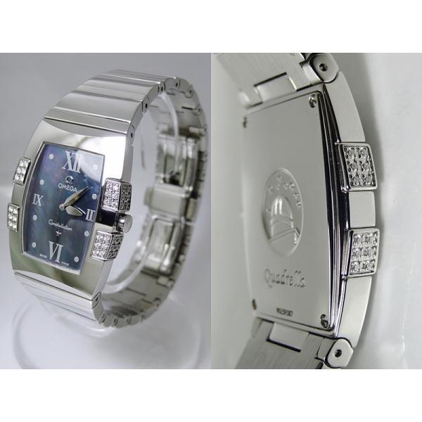 OMEGA オメガ レディース コンステレーション クアドレラ 1586.72 ダイヤベゼル 保証付 中古S- B-1303