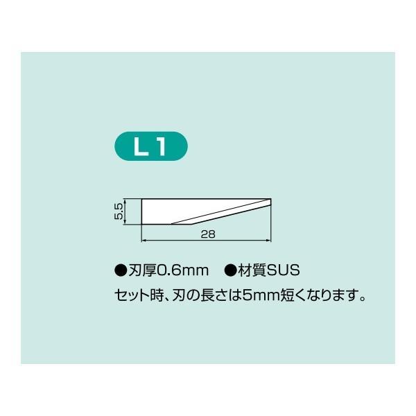 アズワン AS ONE 超音波カッターCTL用替刃L-1 百枚入 6-7365-04 [A100505]