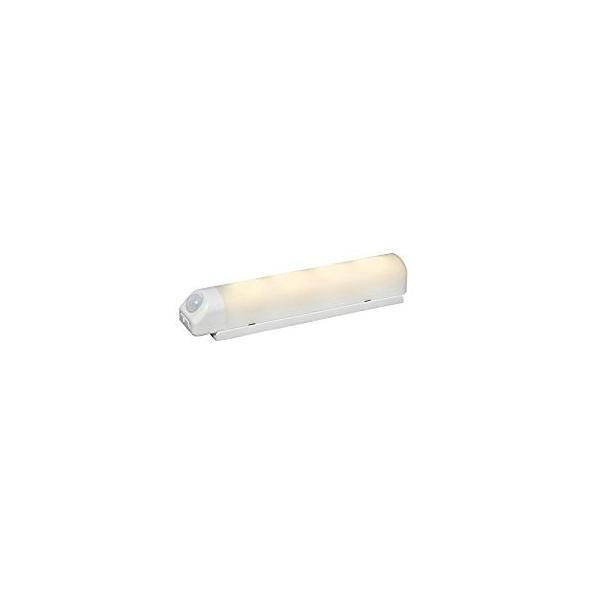 アイリスオーヤマ IRIS 乾電池式屋内センサーライト ウォールタイプ 電球色 ホワイト BSL40WL-W [E010704]