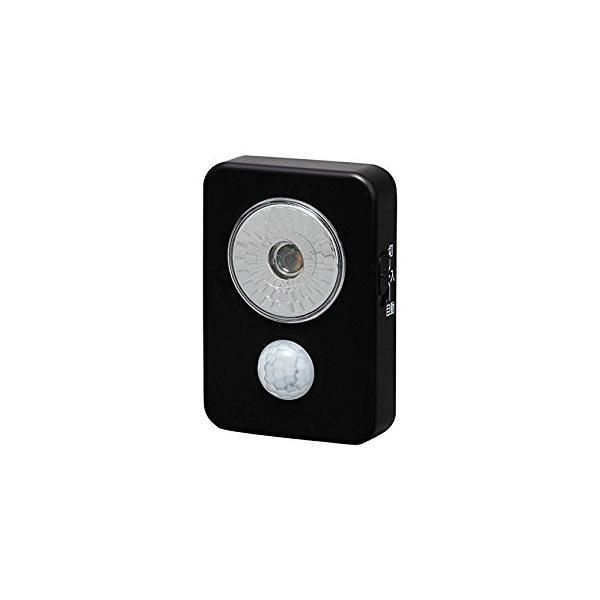 アイリスオーヤマ IRIS 乾電池式LED屋内センサーライト ハンディタイプ ブラック ISL3HN-B [E010704]
