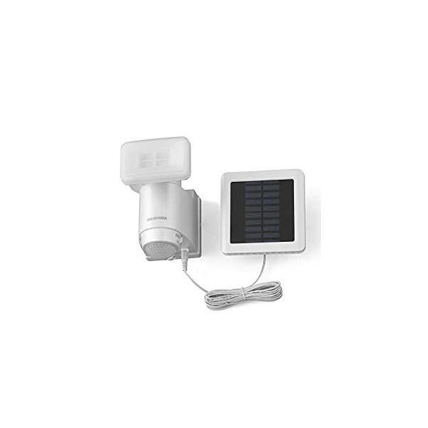 アイリスオーヤマ IRIS ソーラー式LED防犯センサーライト パールホワイト LSL-SBSN-400 [E010705]