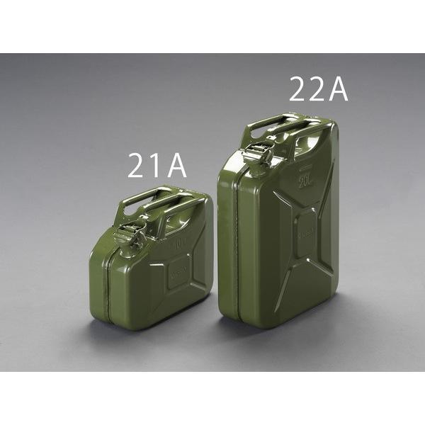 エスコ ESCO 10L ガソリン携行缶(横型/OD色) EA991HB-21A [I061007]
