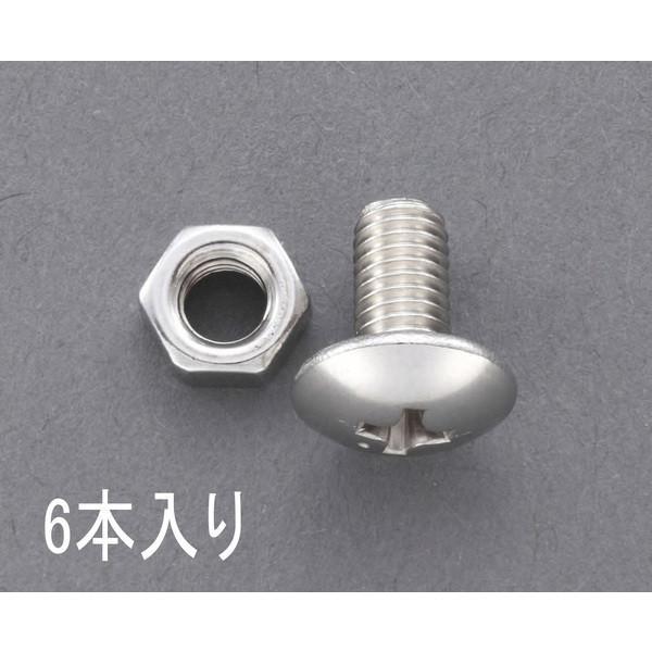 エスコ ESCO M 4x15 ゆるみ止トラス頭小ねじ(ステンレス/6個) EA949NS-415 [I220103]