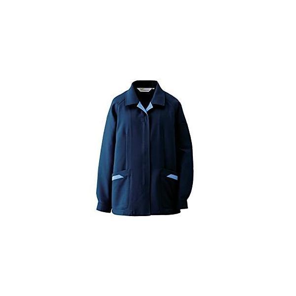 ミドリ安全 ミドリ安全 静電気帯電防止作業服 スモック ネイビー サイズ15 VEL77 UE [A060510]