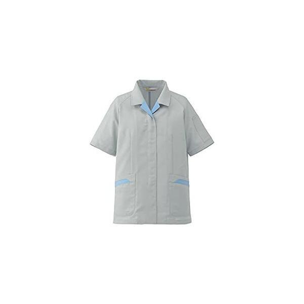 ミドリ安全 ミドリ安全 静電気帯電防止作業服 半袖スモック シルバーグレー サイズ9 VELS71 UE [A060510]