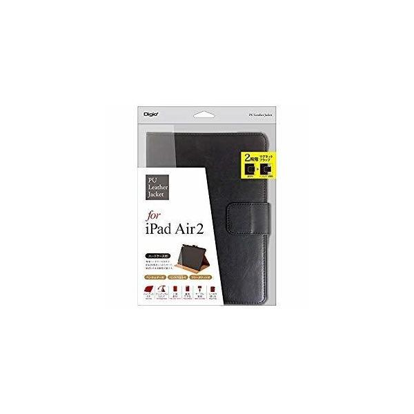 ナカバヤシ TBC-IPS1508BK PUレザーカバー ブラック 〔iPad Air2用〕の画像