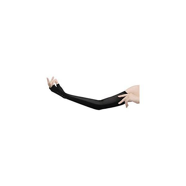 おたふく手袋 指なし メッシュ ラインストーン付ロング UV-2452 [A060313]
