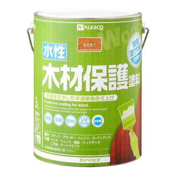 カンペハピオ ALESCO 水性木材保護塗料 カスタニ 3L No.00647653521030 [A190601]