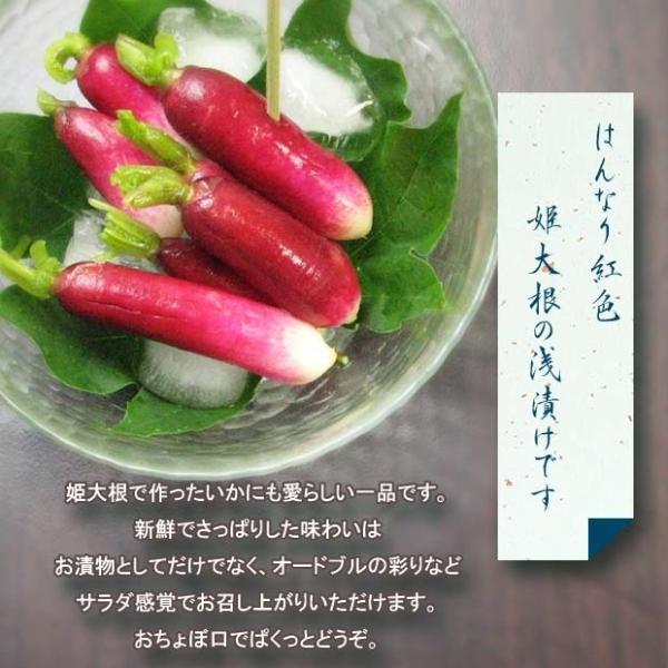 漬物 京おちょぼ 姫大根 二十日大根 ミニ大根 浅漬|daito-senmaiduke|03