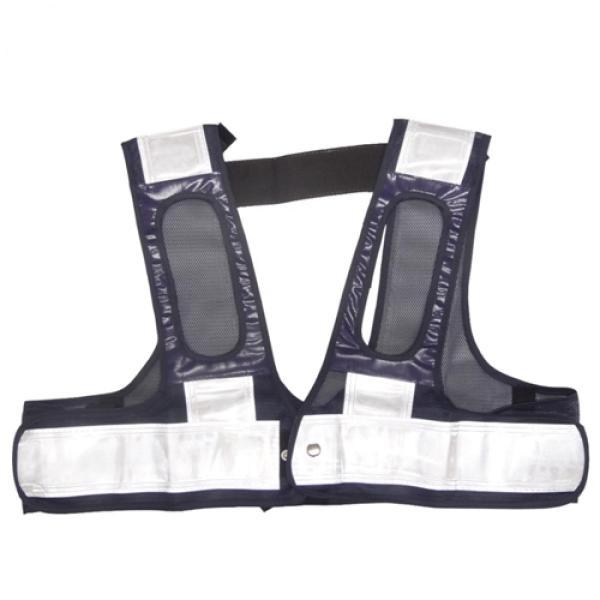 ミズケイ 役立-ツ 5941111 フルハーネス用安全ベスト『装着できるんです』 F 紺/白