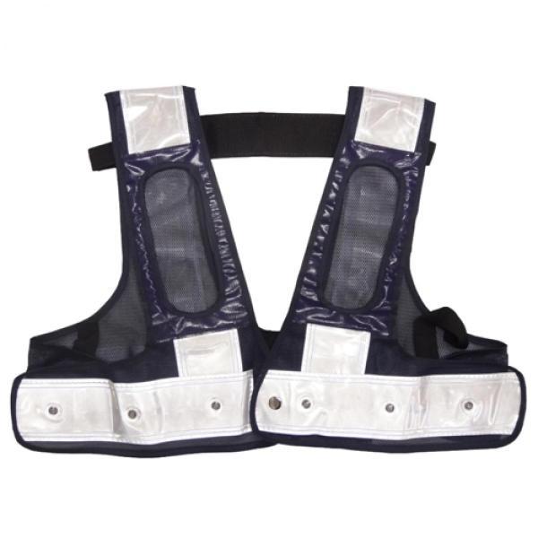 ミズケイ 役立-ツ 5941121 フルハーネス用LED安全ベスト/赤LED『装着できるんです』 F 紺/白