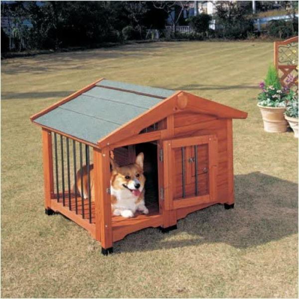 アイリスオーヤマ サークル 犬舎?CL-990?ブラウン| 犬小屋 ドッグハウス 室外 屋外 中型犬用 40cm まで ログハウス 【2梱包商品】